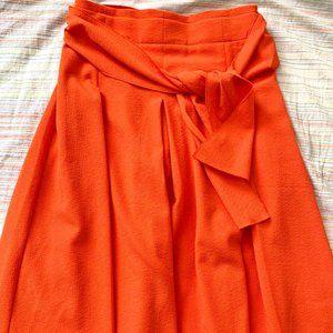 Ann Taylor Waist Tie Midi Skirt